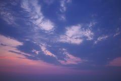 Mooie zonsonderganghemel Royalty-vrije Stock Fotografie