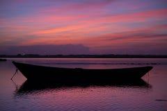 Mooie zonsondergangkleuren Stock Foto's