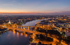 Mooie zonsondergangmening, Thailand Stock Fotografie