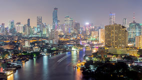 Mooie zonsondergangmening, Thailand Royalty-vrije Stock Fotografie