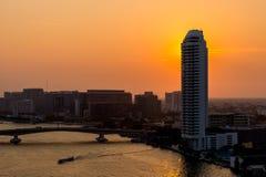 Mooie zonsondergangmening, Thailand Royalty-vrije Stock Foto's