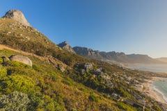 Mooie zonsondergangmening van de 12 Apostelen in Cape Town Royalty-vrije Stock Foto