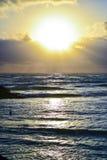Mooie zonsondergangscène royalty-vrije stock afbeeldingen