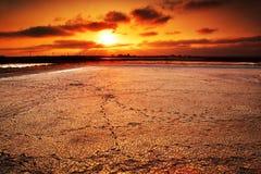 Mooie zonsondergangscènes Royalty-vrije Stock Fotografie