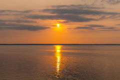 Mooie zonsondergangzonsopgang Stock Foto