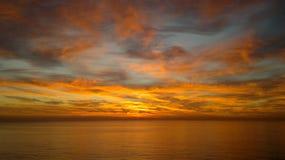 Mooie zonsopgang bij de Haven van Barcelona in Spanje royalty-vrije stock fotografie