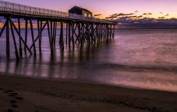 Mooie zonsopgang bij de kust van New Jersey royalty-vrije stock foto's