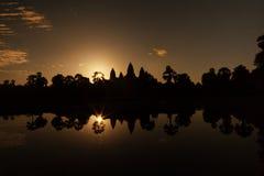 Mooie zonsopgang bij de tempel van Angkor Wat Royalty-vrije Stock Fotografie