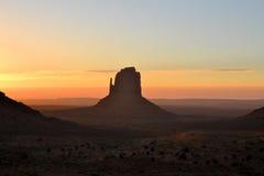 Mooie zonsopgang bij Monumentenvallei Royalty-vrije Stock Fotografie