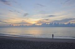 Mooie zonsopgang in de ochtend Royalty-vrije Stock Afbeeldingen