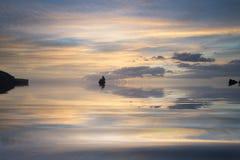 Mooie zonsopgang landsdcape van idyllisch Broadhaven-Baaistrand  Stock Foto's