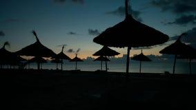 Mooie zonsopgang op het overzees stock video