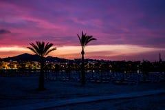 Mooie zonsopgang op het strand in Mallorca royalty-vrije stock foto