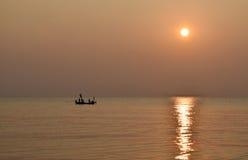 Mooie zonsopgang over het overzees Royalty-vrije Stock Foto