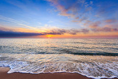 Mooie zonsopgang over het overzees Royalty-vrije Stock Afbeelding