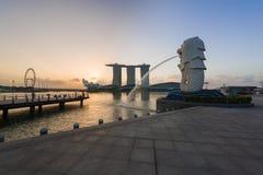 Mooie zonsopgang van iconische oriëntatiepunten Stock Afbeeldingen