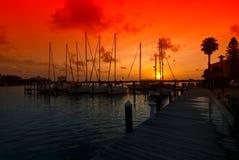 Mooie zonsopgangjachthaven Stock Foto