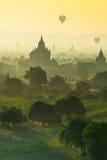Mooie zonsopgangscène van Oude Pagode in Bagan, Myanmar Ben Royalty-vrije Stock Foto