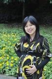 Mooie zwangere Aziatische vrouw Royalty-vrije Stock Afbeelding