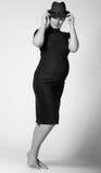 Mooie zwangere vrouw Stock Afbeelding