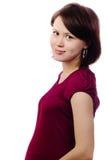 Mooie zwangere vrouw Stock Foto
