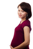 Mooie zwangere vrouw Stock Afbeeldingen