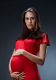 Mooie zwangere vrouw Royalty-vrije Stock Foto's
