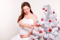 Mooie zwangere vrouwen Royalty-vrije Stock Afbeelding
