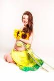Mooie zwangere vrouwen Stock Foto's