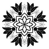 Mooie Zwart-witte Mandala Illustration Aziatische decoratie, vector illustratie