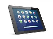 Mooie zwarte tabletPC op witte achtergrond Royalty-vrije Stock Foto's