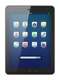 Mooie zwarte tabletPC op witte achtergrond Royalty-vrije Stock Fotografie