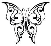 Mooie zwarte vlinder Royalty-vrije Stock Foto