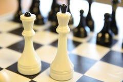 Mooiste antieke schaakreeksen De raad is zeer elegant stock fotografie