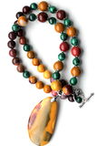Mookaite stone beads Royalty Free Stock Photos