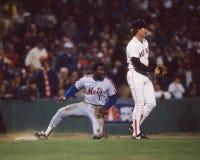Mookie Wilson, 1986 campionati di baseball Immagine Stock