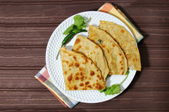 Mooli or Radish Paratha Stock Images