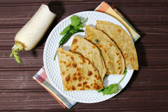 Mooli or Radish Paratha Stock Photo