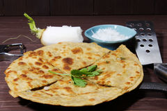 Mooli or Radish Paratha Royalty Free Stock Photography