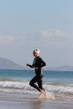 MOOLOOLABA,澳大利亚- 9月14 :在的未认出的竞争者 免版税库存图片