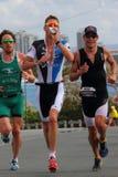 MOOLOOLABA, AUSTRALIË - SEPTEMBER 14: Pros (groen) Dan Wilson, (blauw) Brad Kahlefeldt, (zwart) Courtney Atkinson in Royalty-vrije Stock Afbeelding