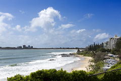 Mooloolaba Beach on a Sunny Day Stock Images