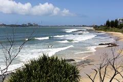 Mooloolaba Beach on a Sunny Day Stock Photos