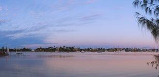 Mooloolah river panorama royalty free stock photography