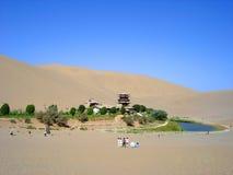 The Moom lake in the desert Stock Photo