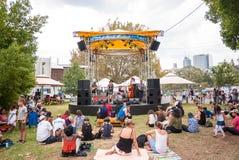 Moombafestival in Melbourne CBD, Victoria, Australië: 12 Maart 2017 royalty-vrije stock foto