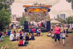 Moombafestival Melbourne op 26 Maart 2017 stock afbeeldingen