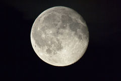 Moon. The Summer Moon just after its full Moon cycle Stock Image