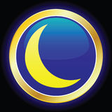 Moon. Vector icon for the moon Royalty Free Stock Image
