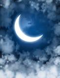 Moon. Night fairy tale - bright moon in the night sky Stock Photo